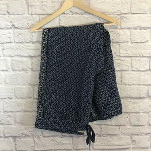 Loft Boho Lounge Pants Blue Large Elastic Waist